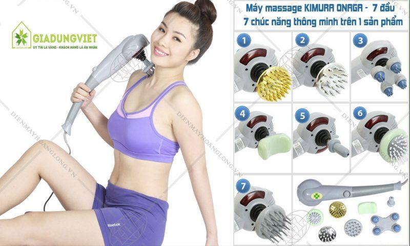 máy massage cầm tay 7 đầu kimura onaga Nhật Bản có giá bao nhiêu