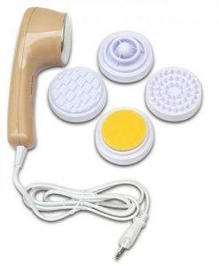Máy massage mặt Kolvin DH2 với 4 đầu massage khác nhau,giúp bạn thư giản nhiều vị trí trên vùng mặt và đầu. Bên cạnh đó có đầu tạo nóng giúp bạn có thể vừa massage vừa trị liệu tốt