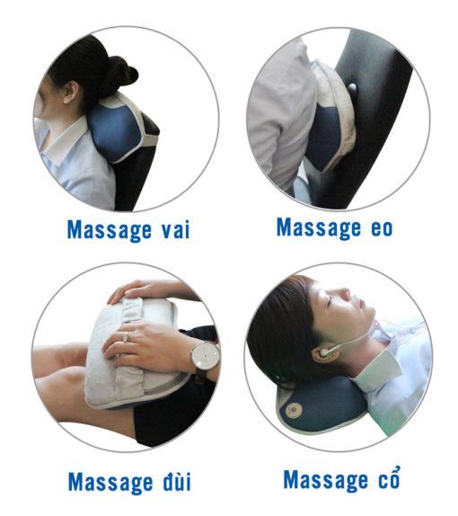 Gối massage Buheung MK-316 New các vị trí