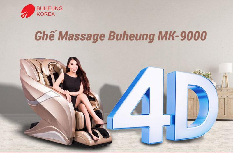 Ghế massage Hàn Quốc Buheung MK-9000