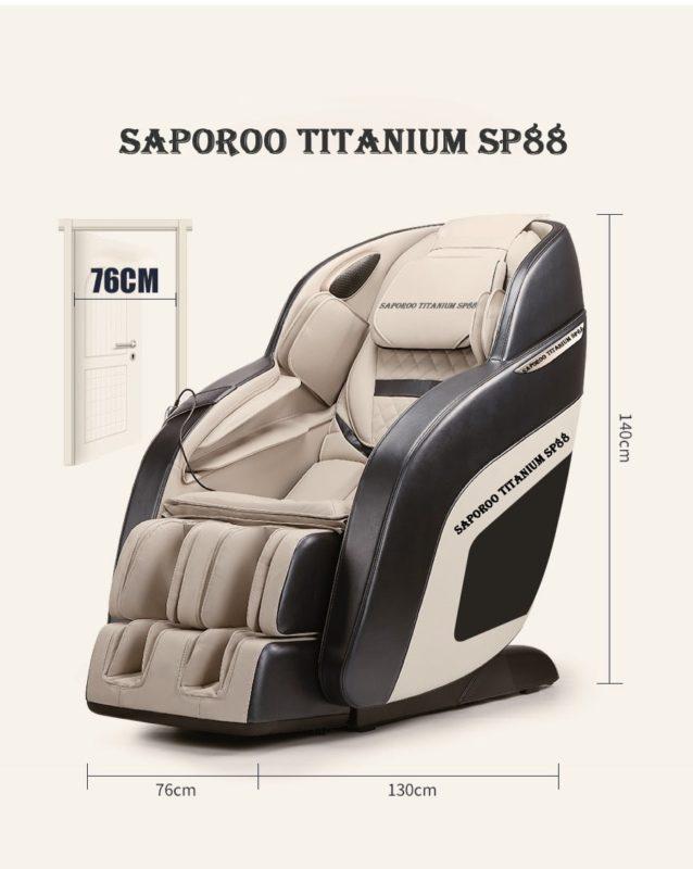 Ghế massage Saporoo Titanium SP88 - Mãnh Long Nhật Bản