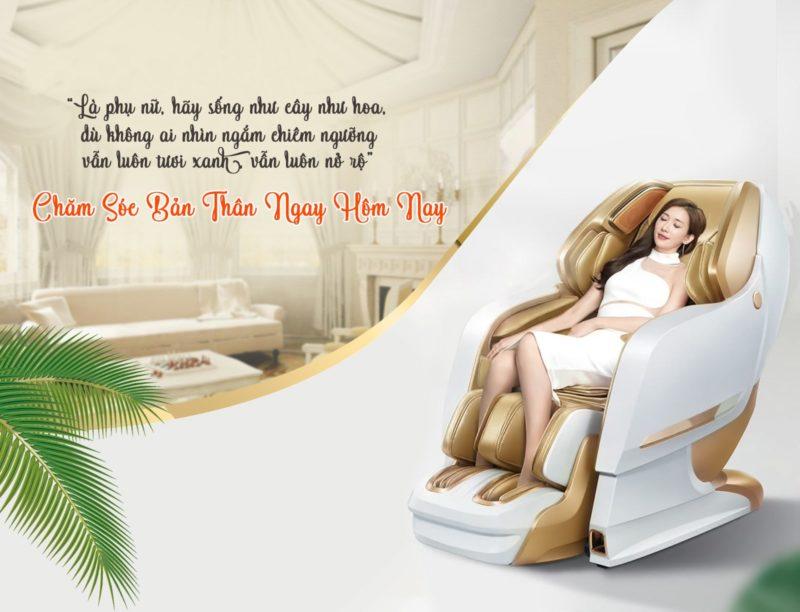 Ghế massage giúp chăm sóc sức khỏe sau những ngày làm việc vất vả