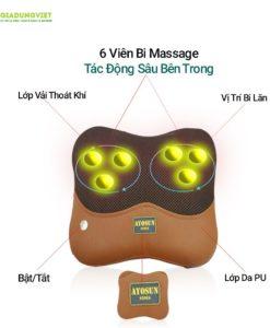 Gối massage hồng ngoại AYOSUN AYS – 696E8
