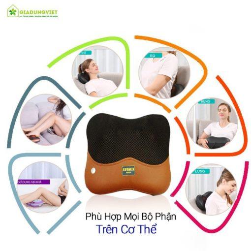 Gối massage hồng ngoại AYOSUN AYS – 696E8 cho mọi vị trí