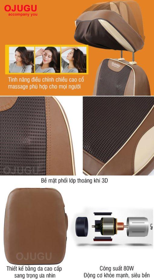 Chi tiết đệm massage OJUGU – GTK370
