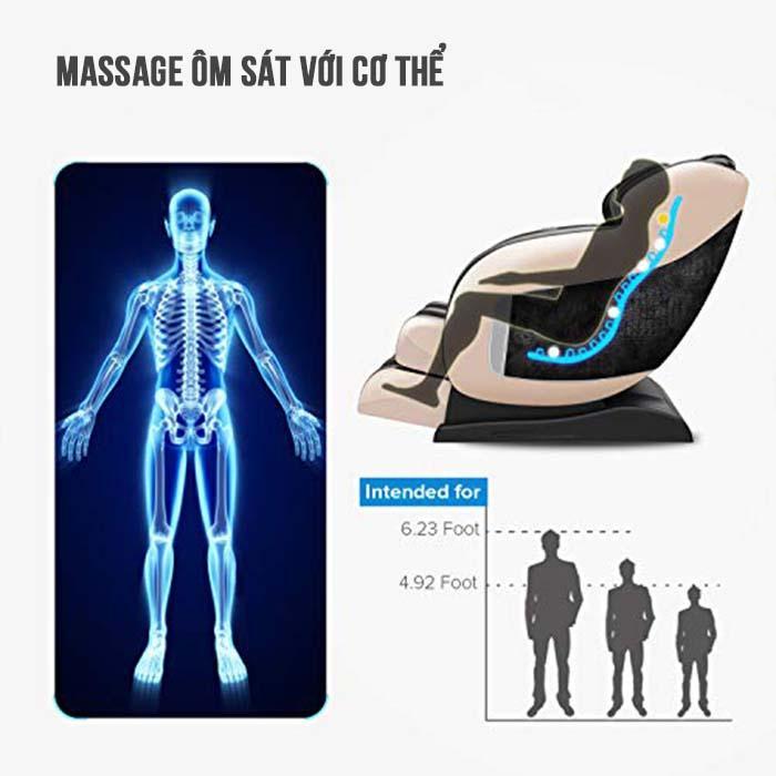 Ghế massage Saporoo Titanium SP88 toàn thân