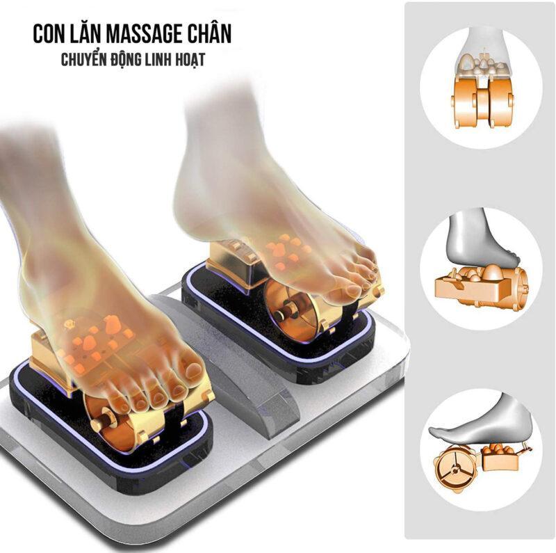 Ghế massage Saporoo Titanium SP88 con lăn chân