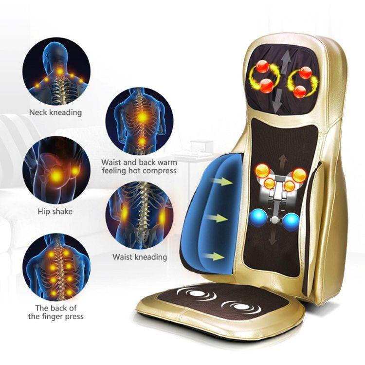 đệm massage toàn thân 6D túi khí kép