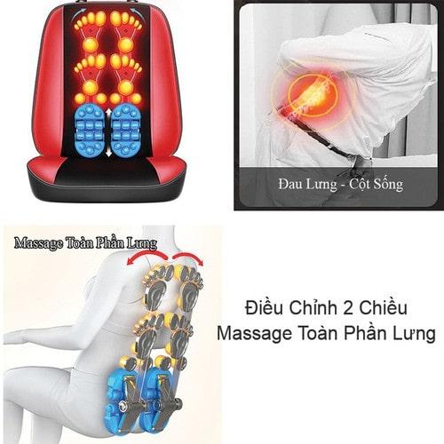 đệm massage toàn thân 3 mảnh