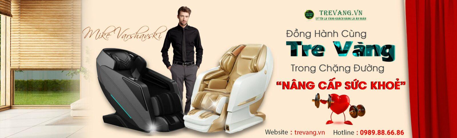 Ghế massage Nhật Bản Tre Vàng
