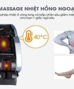 Ghế massage giá rẻ Saporoo SP 69 nhiệt hồng ngoại