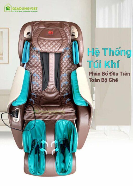 ghế massage toàn thân Okinawa OS 990 hệ thống túi khi