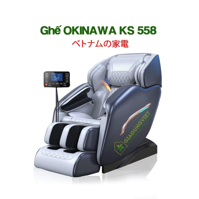 mẫu ghế massage giá rẻ dưới 20 triệu - okinawa ks558